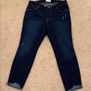 Loft dark denim ankle jeans.